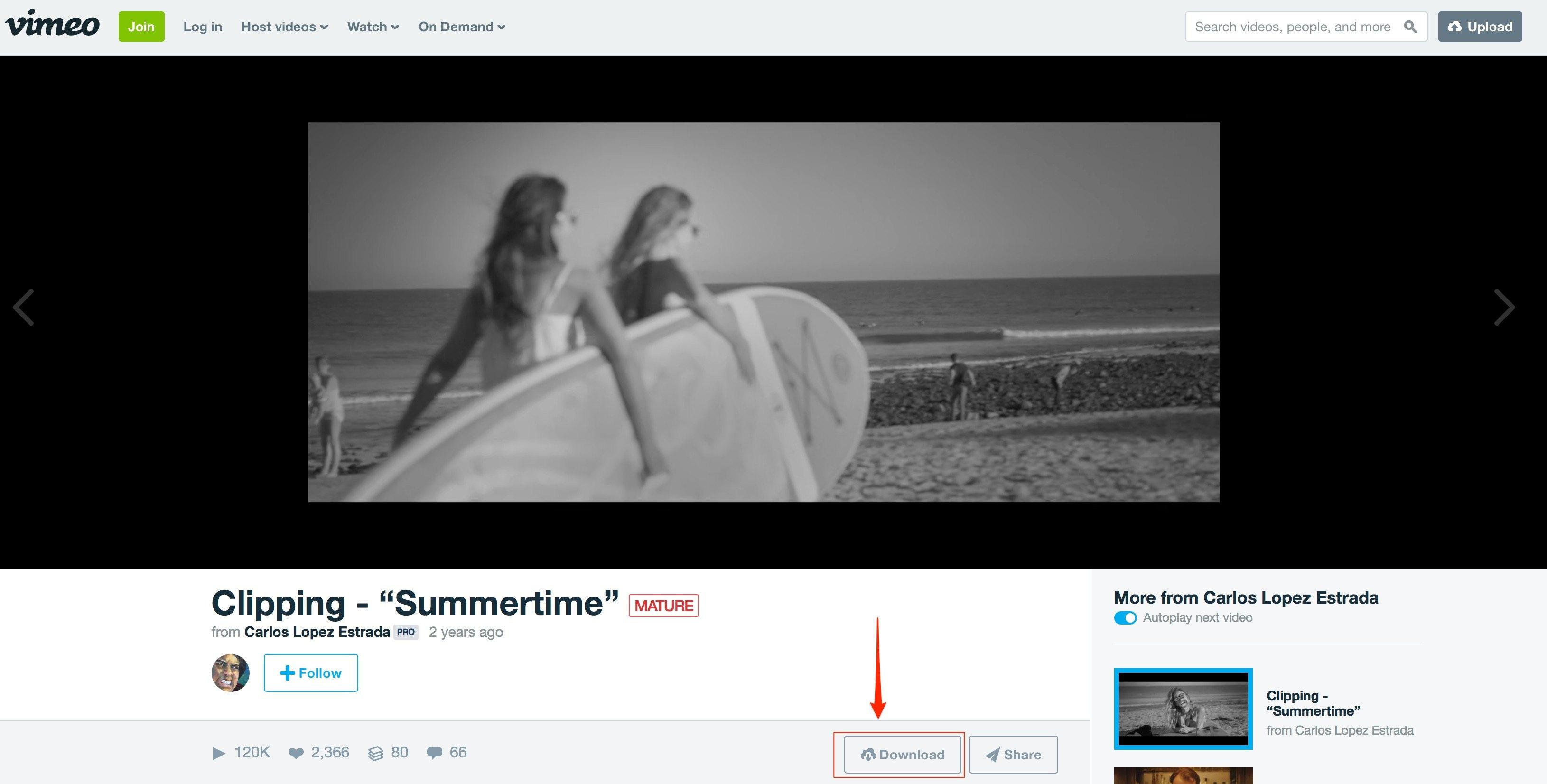 Cách download video trên Vimeo - Technology Diver