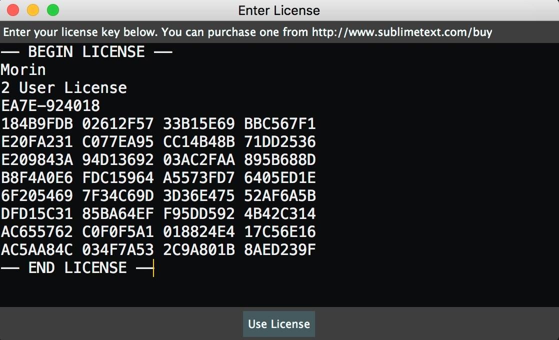 sublime text 3 license key pastebin