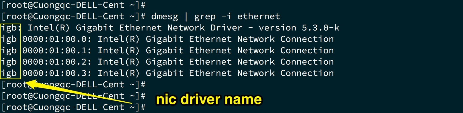 tên driver card NIC