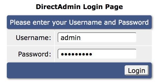 đăng nhập direct admin