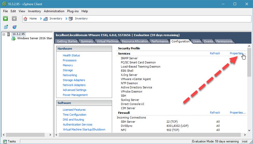 kích hoạt ssh trên esxi với vsphere desktop client - 3
