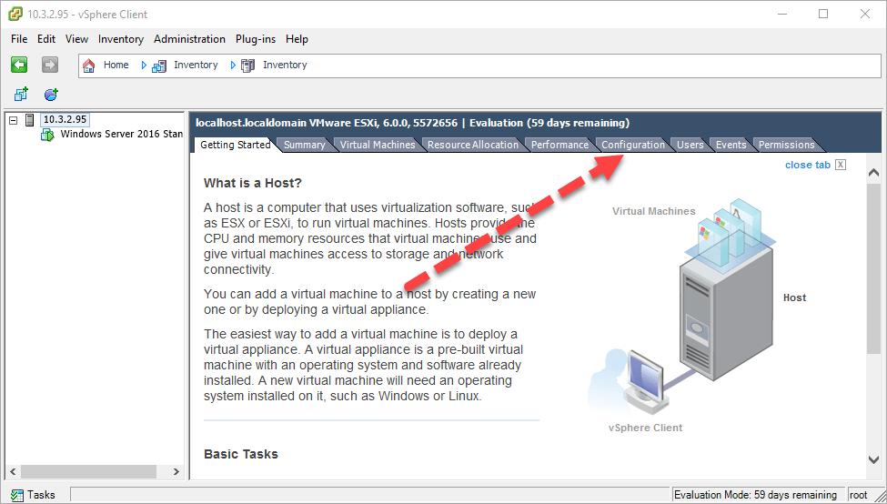 kích hoạt ssh trên esxi với vsphere desktop client