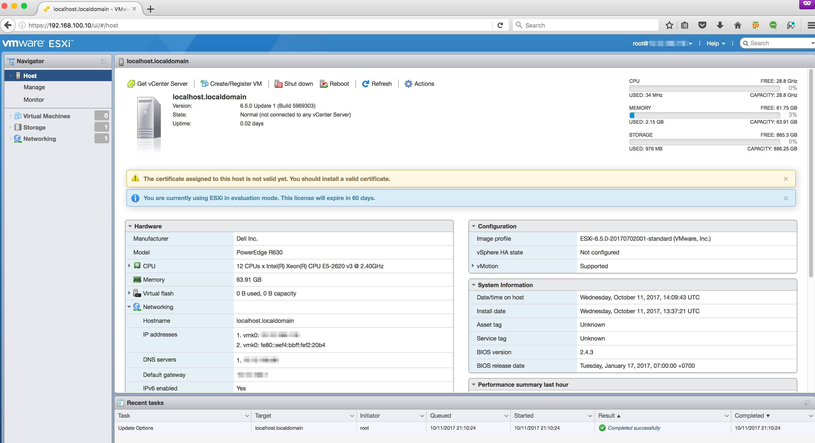 vSphere 6 5] Hướng dẫn cài đặt VMware ESXi 6 5 với hình ảnh