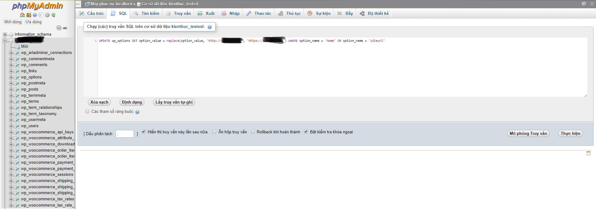 phpmyadmin query sql