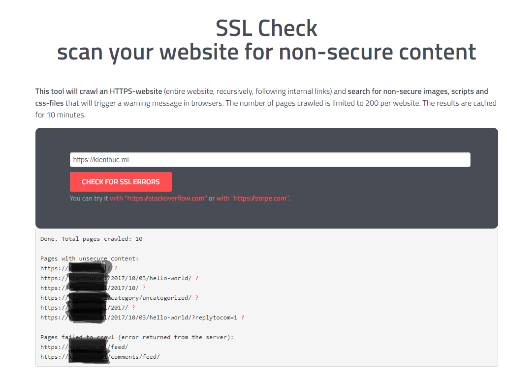 ssl check mixed-content