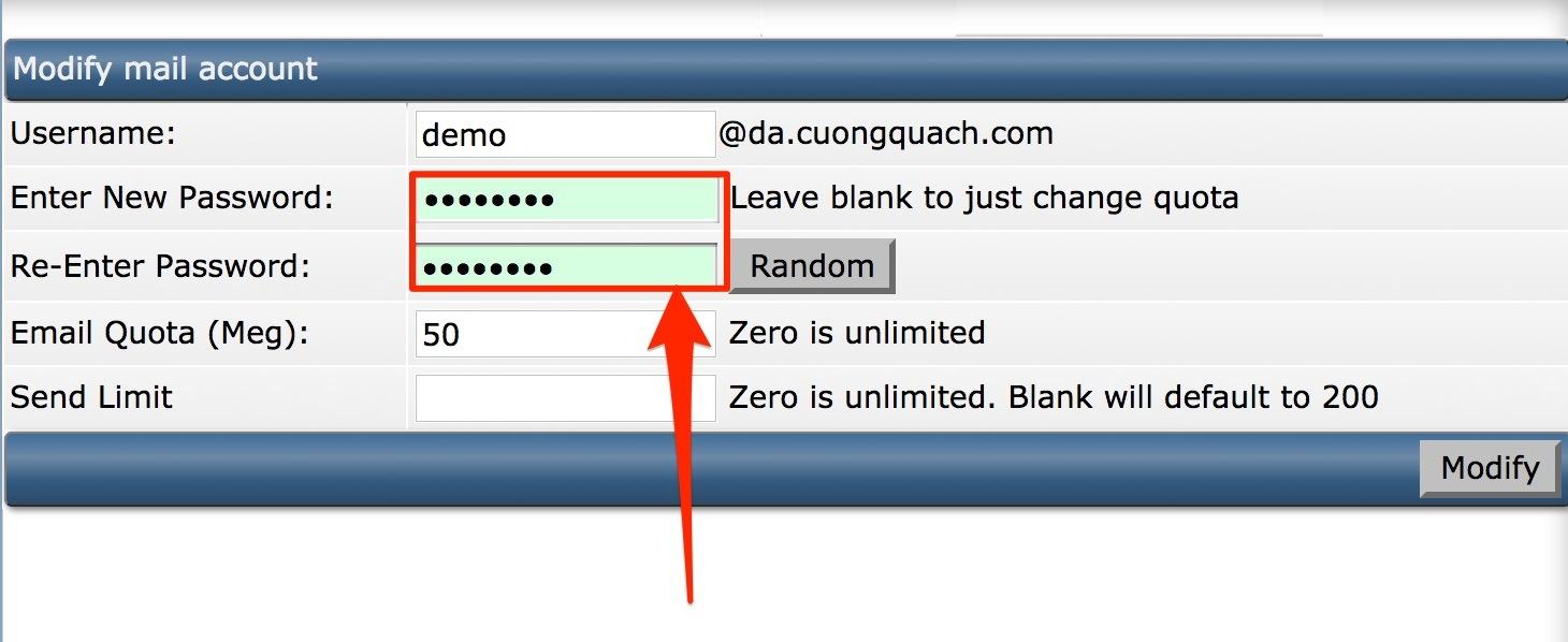 thay đổi mật khẩu email trên direct admin - 2