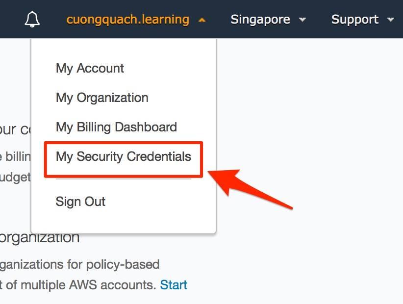 aws management console - thay đổi mật khẩu aws account 1
