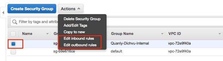 edit security group ec2