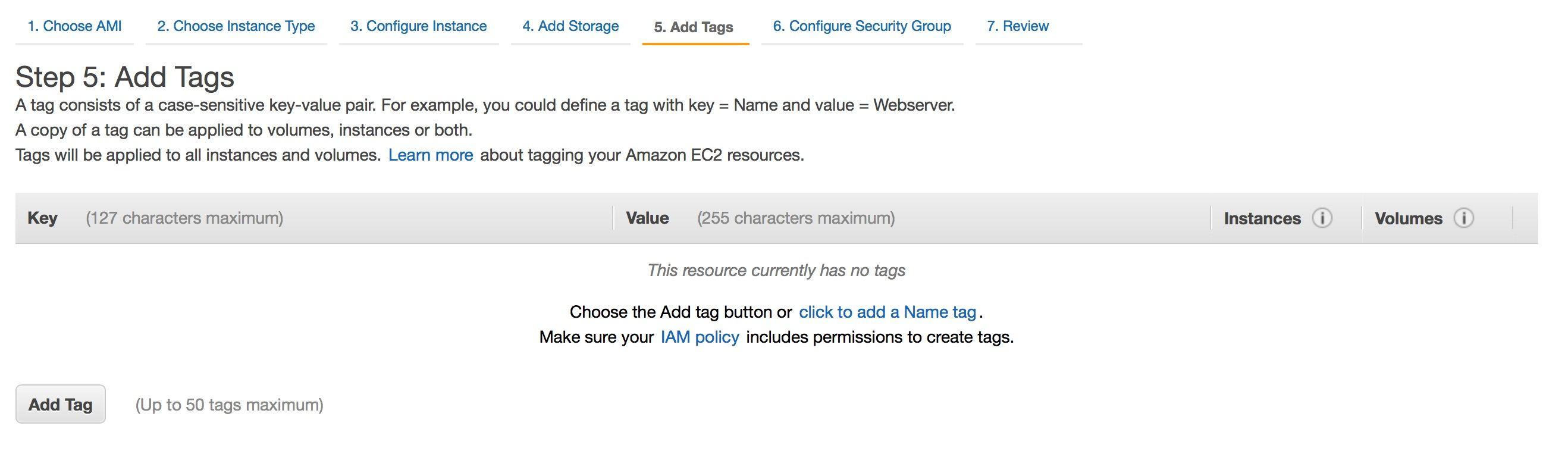ec2 instance - đánh tag