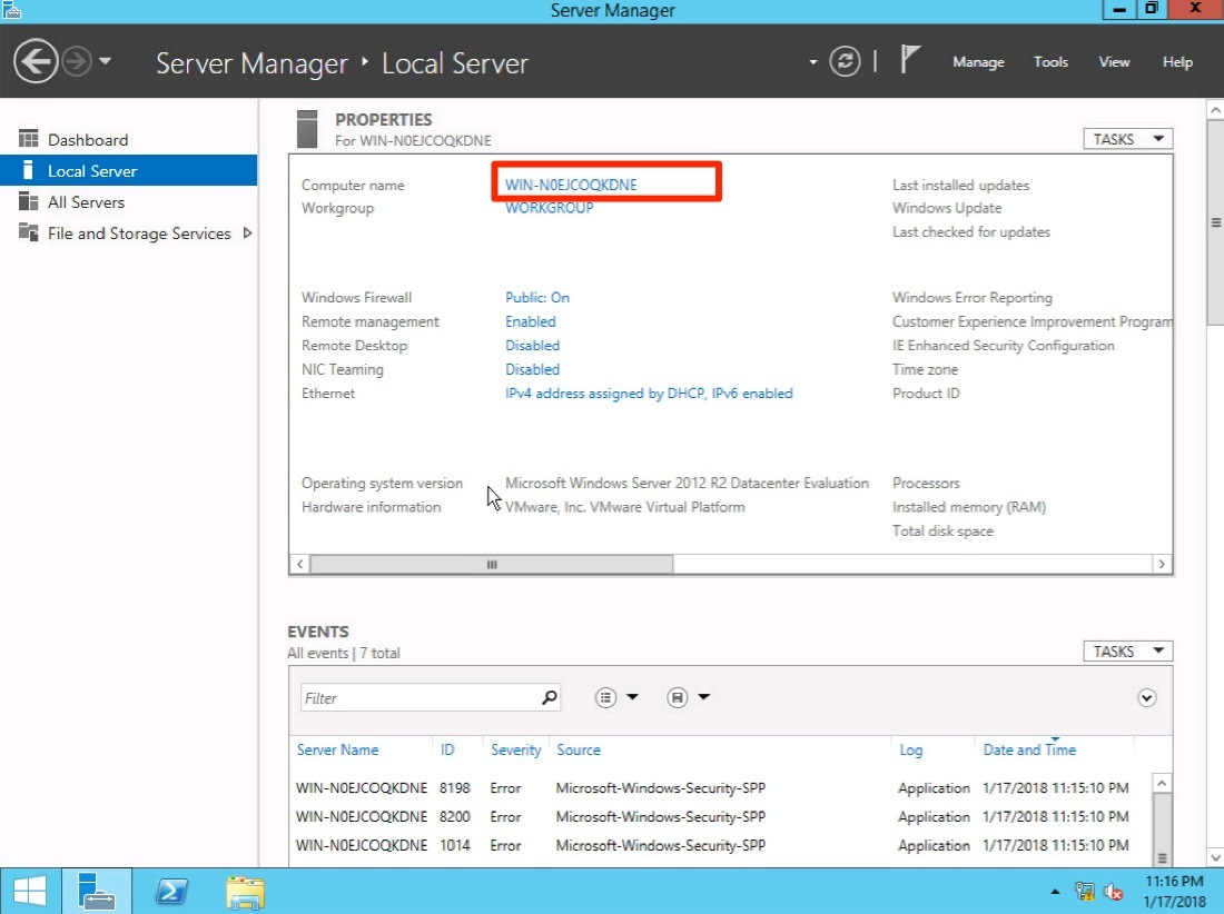 thay đổi computer name windows server 2012 - 3