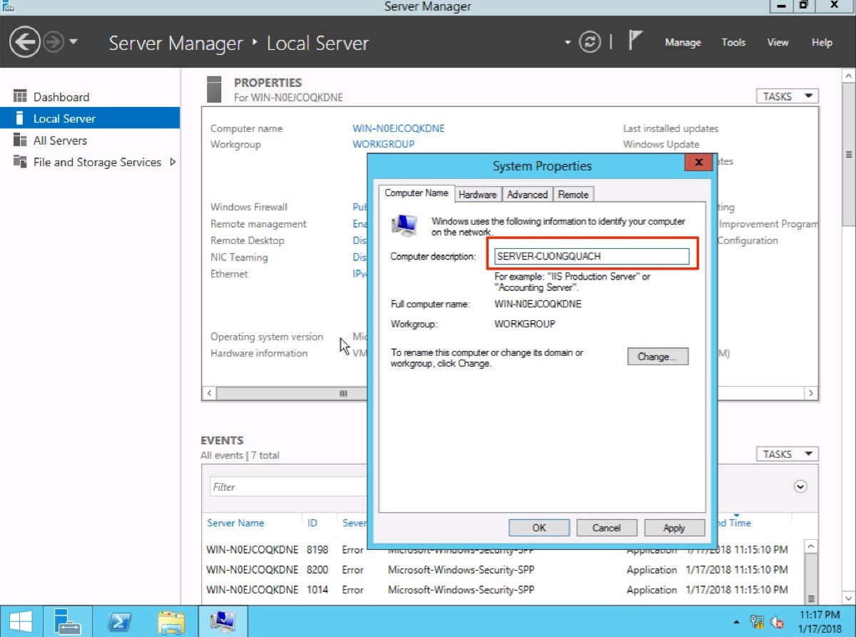 thay đổi computer name windows server 2012 - 4