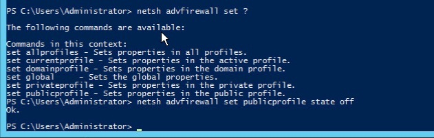windows firewall powershell