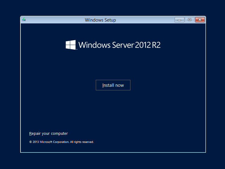 cài đặt windows server - 2