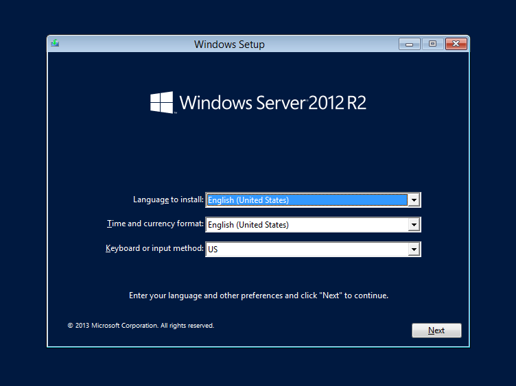 cài đặt windows server 2012 - 1