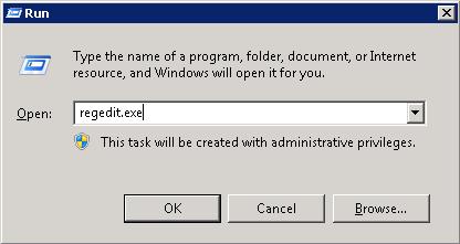 mở registry