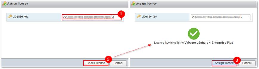 kích hoạt key license esxi qua web