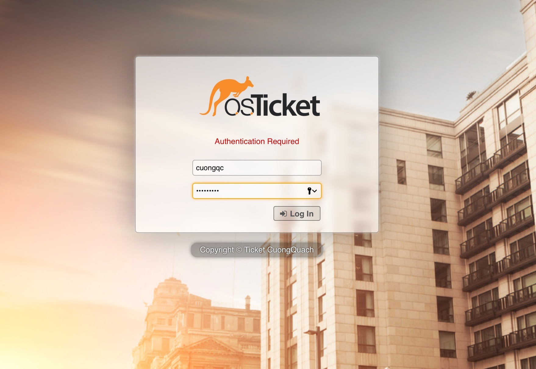 osticket admin login