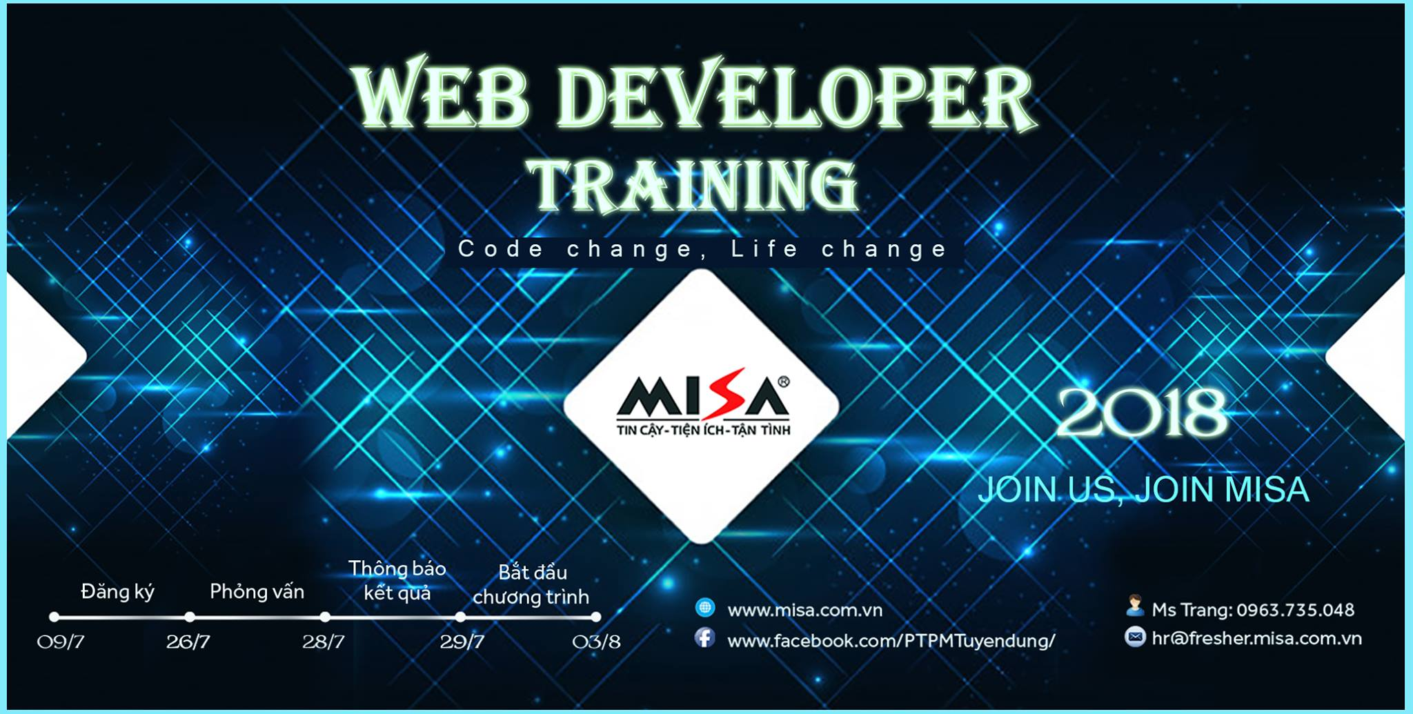web developer training 2018