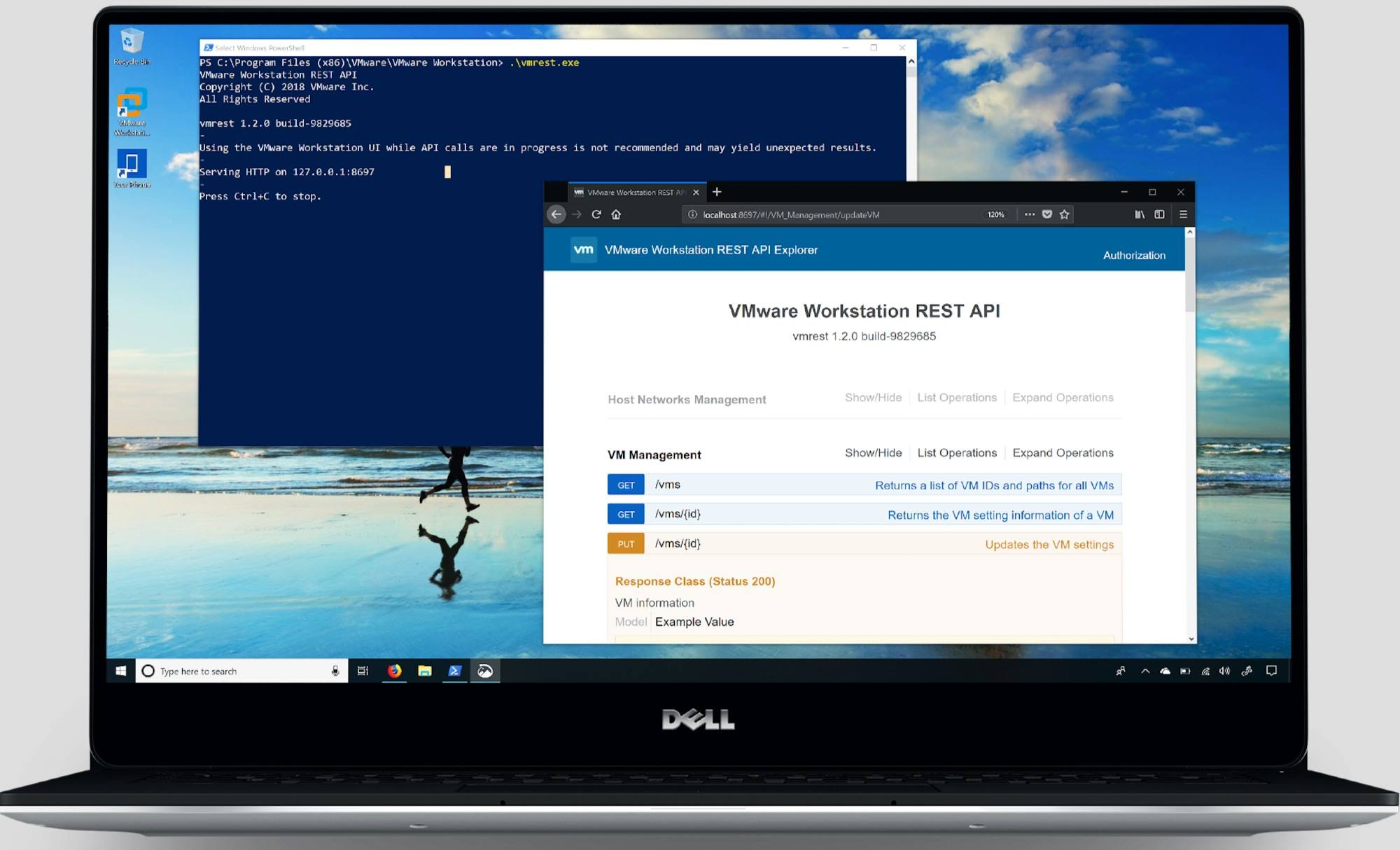 vmware workstation 15 hỗ trợ rest api