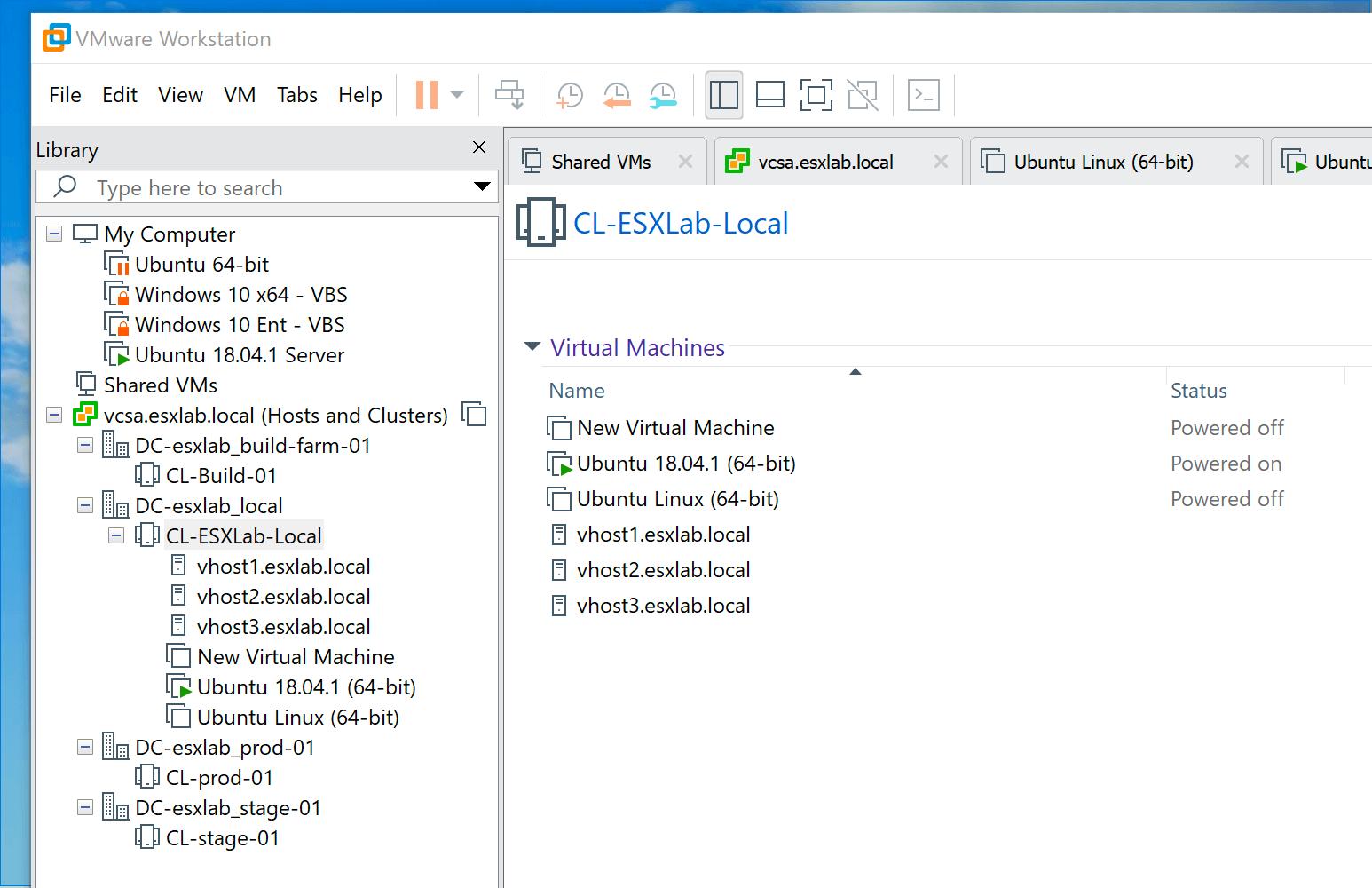 Phần mềm tạo máy ảo- vmware hỗ trợ vsphere