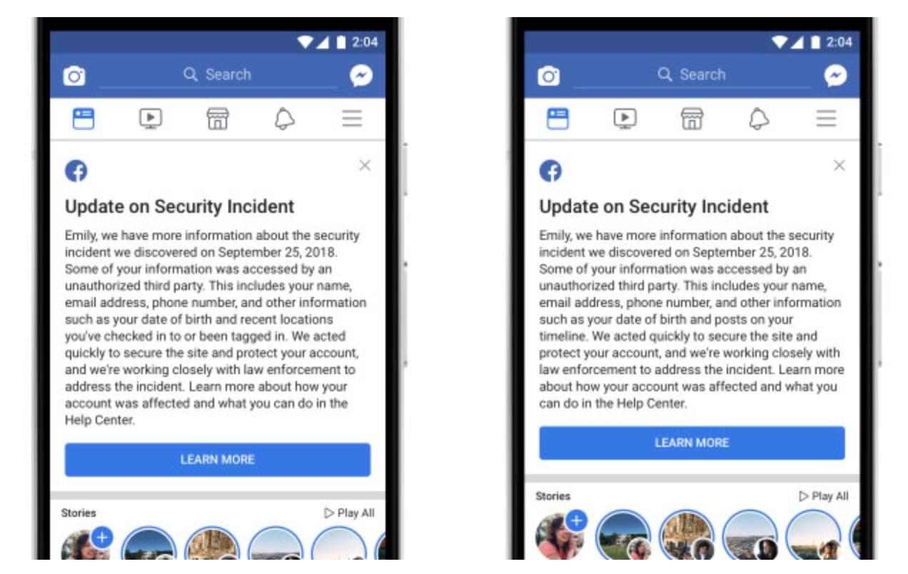 facebook phân loại dữ liệu bị hack