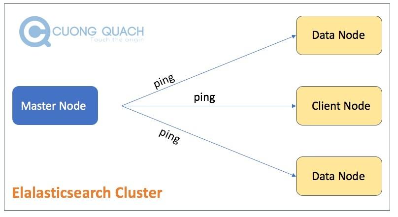 master node ping các node khác trong es cluster