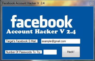 ví dụ phần mềm hack tài khoản facebook