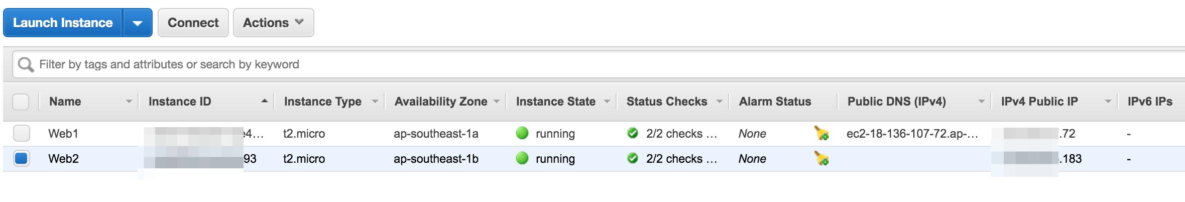 2 máy chủ ec2 instance web - 1