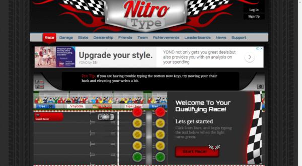 Nitro Type Race