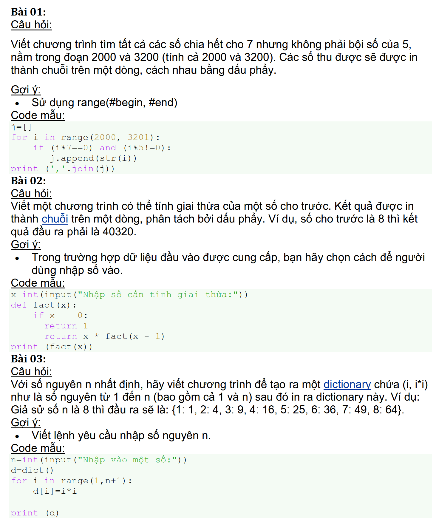 trang 1 - bài tập python