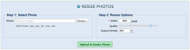 Resize Photos