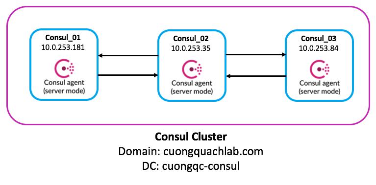 Mô hình lab Consul Cluster