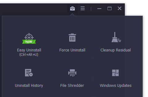 Các tính năng của IObit Uninstaller