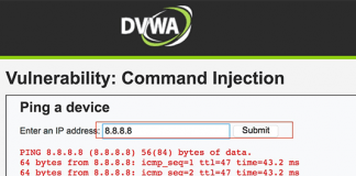 dvwa command injection