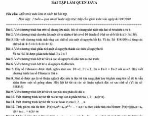 42 bài tập java căn bản