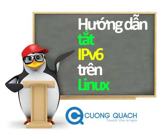 tắt ipv6 trên linux