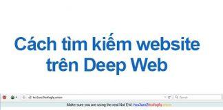 cách tìm kiếm website trên deep web