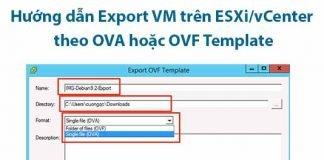 hướng dẫn export vm trên esxi vcenter