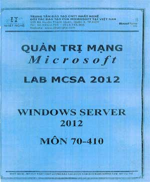 Image result for Quan tri Mang MCSA 2012 Lab - Windows Server 70-410 - Nhat Nghe.