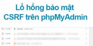 lổ hổng csrf trên phpmyadmin