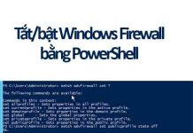 tắt bật windows firewall bằng powershell