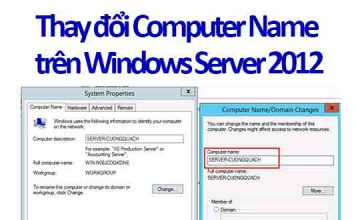 thay đổi computer name trên windows server 2012