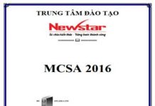 ebook lab mcsa 2016 tiếng việt newstar