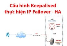 cấu hình keepalived thực hiện ip failover