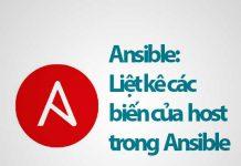 hướng dẫn liệt kê các biến của host trong ansible