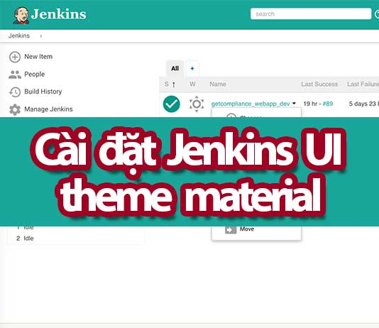 thay đổi giao diện Jenkins UI với theme material