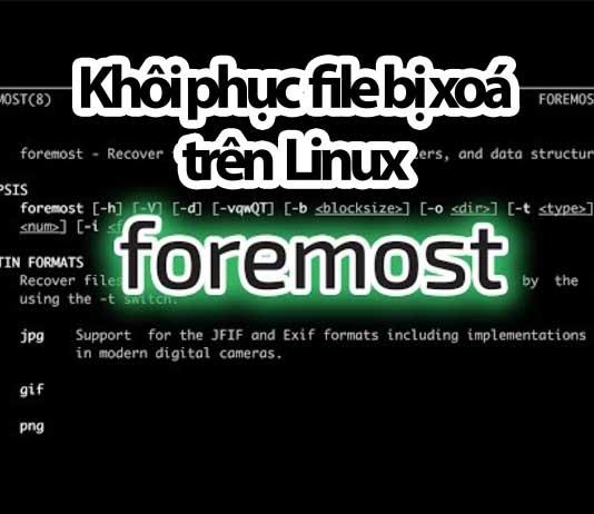 khôi phục file bị xoá trên linux