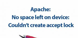 loi apache no space left