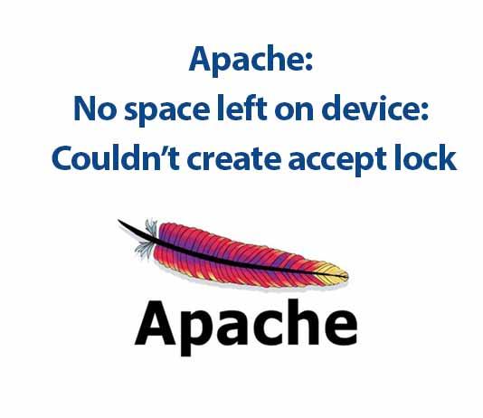 loi apache no space left